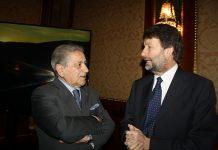 Luigi Torelli con il Ministro Franceschini