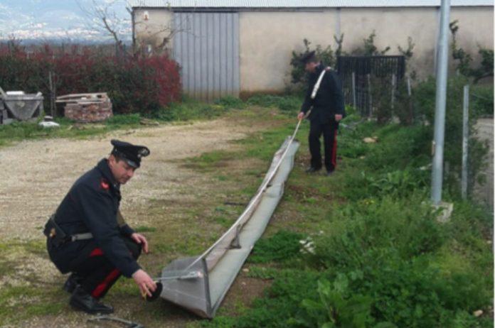 Carabinieri furto grondaie rame Cisterna