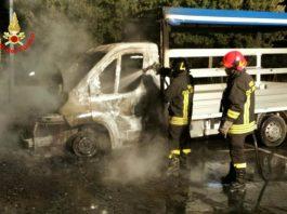 Incendio autocarro Terracina