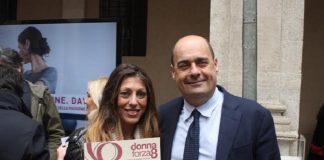Raffaela Mazzoli e Nicola Zingaretti