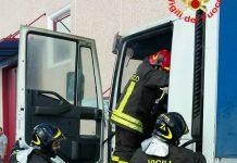 Incendio camion Aprilia