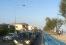 terracina traffico lungomare