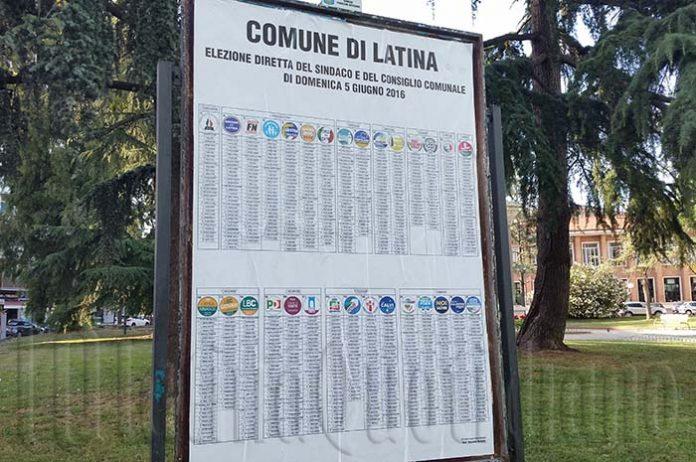 Manifesti elezioni Latina