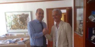 Damiano Coletta con Nicola Zingaretti