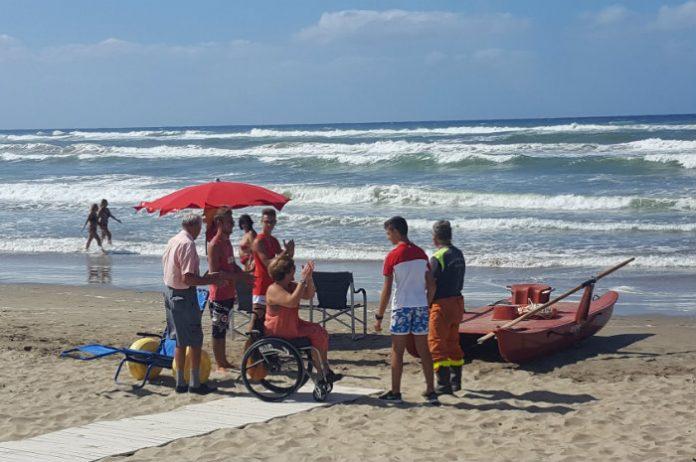 sabaudia spiaggia disabili