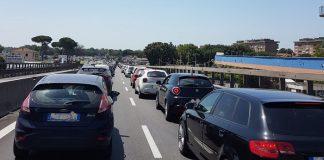 Pontina bloccata in direzione Roma