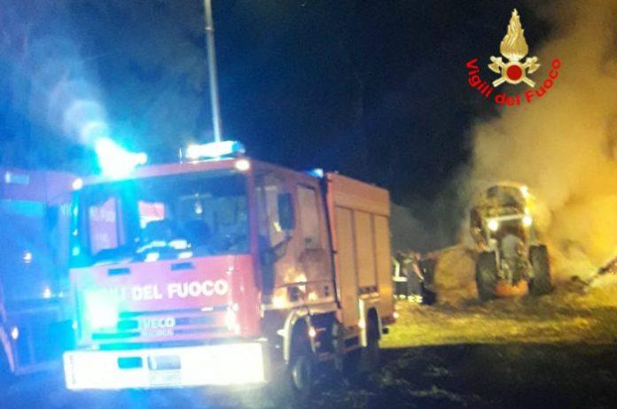 incendio fienile Terracina
