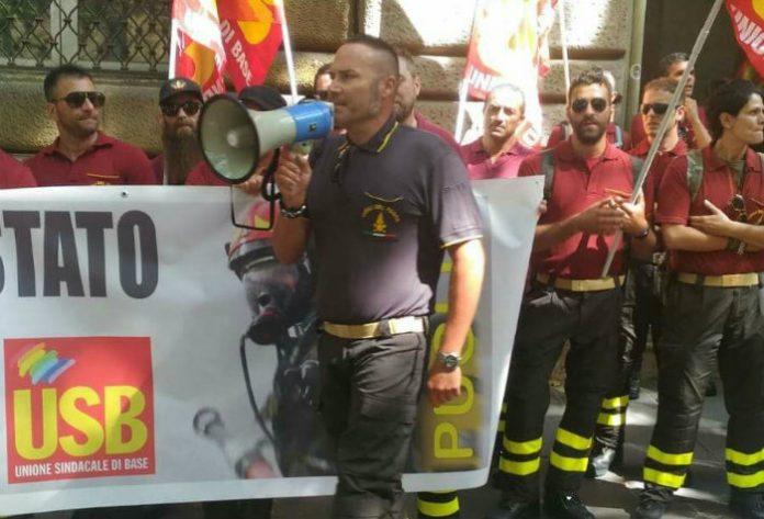 Giovanni Terella, Usb Vigili del Fuoco