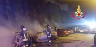 Incendio di tre auto a Cori