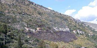 Incendio a Monte San Biagio