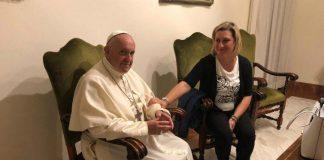 Antonietta Gargiulo ha incontrato Papa Francesco