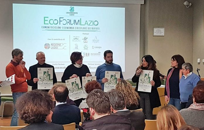 I riconoscimenti al' Ecoforum Lazio di Legambiente