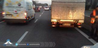 Pontina furgone in panne