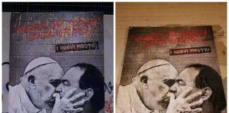 Bacio tra Papa Francesco e Mimmo Lucano