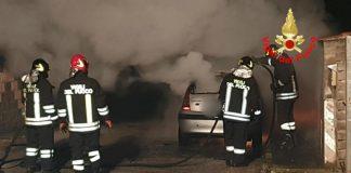 auto a fuoco Aprilia