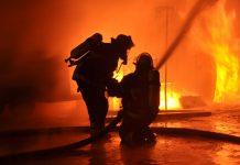 fuoco all'appartamento
