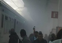 incendio treno regionale