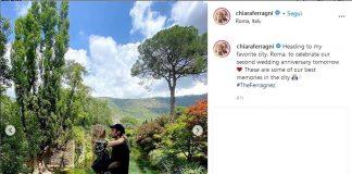 Chiara Ferragni e Fedez a Ninfa